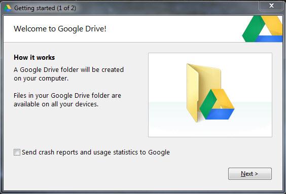 When Installation Is Complete You Will Have A Google Drive Icon On Your Desktop And Ear In The Left Column Of Windows Explorer